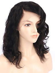 cheap -Human Hair Lace Front Wig Bob style Brazilian Hair Burmese Hair Water Wave Natural Wig 130% Density with Baby Hair Women Easy dressing Best Quality Hot Sale Women's Short Human Hair Lace Wig