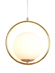cheap -Modern Glass Pendant Lighting Ceiling Chandelier Hanging Lamp 1-Lights Fixture Flush Mount Electroplated Gold Finish