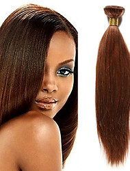 cheap -1 Bundle Indian Hair Yaki Remy Human Hair Natural Color Hair Weaves / Hair Bulk 10-20 inch Human Hair Weaves Human Hair Extensions / 10A