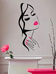 Недорогие -Геометрия / Принцесса Наклейки 3D наклейки / Люди стены стикеры Декоративные наклейки на стены, Пластиковые & Металл / Винил Украшение дома Наклейка на стену Стена / Окно Украшение 1шт / Съемная