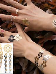 cheap -3 pcs Temporary Tattoos Eco-friendly / New Design Body / brachium / Wrist Water-Transfer Sticker Metallic Tattoo / Metallic jewelry tattoos / Decal-style temporary tattoos