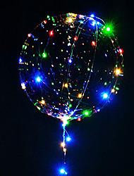 Недорогие -3m 30led лампа строка светящиеся ведомые воздушные шары прозрачные гелиевые шарики с днем рождения вечеринки украшения дети свадьба вел воздушные шары Рождество новый год