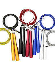 cheap -Jump Rope 1 pcs Sports Aluminum Plastic Shell Wire Exercise & Fitness Bodybuilding Boxing Training Adjustable Durable Crossfit Weight Loss Training For Men Women Home / Teen / Adults'