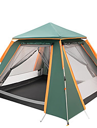 cheap -TANXIANZHE® 4 person Automatic Tent Outdoor Lightweight Windproof UV Resistant Double Layered Automatic Camping Tent 2000-3000 mm for Camping / Hiking / Caving Picnic Oxford Cloth 240*240*170 cm