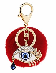 cheap -Keychain Eyes Ball Diamond / Rhinestone Decorated Case Fashion Ring Jewelry Yellow / Red / Pink For Gift Date