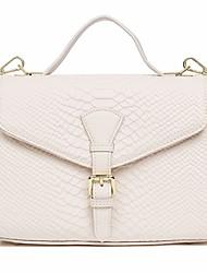 cheap -Women's Solid Cowhide Shoulder Messenger Bag Black / Dark Grey / White