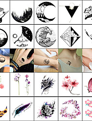 cheap -decal style temporary tattoos face body wrist temporary tattoos 40 pcs totem series animal series smooth sticker safety body arts masquerade bachelor