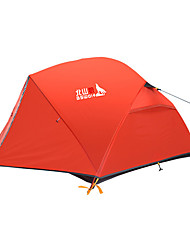 cheap -BSwolf 2 person Backpacking Tent Outdoor Rain Waterproof Breathability Double Layered Poled Camping Tent 2000-3000 mm for Fishing Climbing Camping / Hiking / Caving Oxford Cloth Terylene 210*135*100