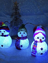 cheap -2Pc Christmas Decoration Color Changing Led Snowman New Year Decorations Mood Lamp Xmas Tree Party Decor