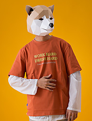 cheap -Mask Holiday Jewelry Inspired by Animal Yellow Gray Cosplay Halloween Halloween Carnival New Year Adults' Men's Women's