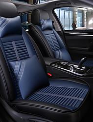 Недорогие -черный и синий четыре сезона автомобильный чехол для сиденья с 2 подушками для головы и 2 подкладки для талии для 5