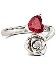 cheap -Women's Ring 1pc Red Copper Ladies European Trendy Gift Daily Jewelry Crossover Heart Flower