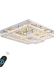 cheap -Flush Mount Ambient Light Chrome Metal Crystal, LED 110-120V / 220-240V Warm White / White / Dimmable With Remote Control LED Light Source Included / LED Integrated