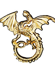 cheap -Men's Cubic Zirconia Brooches Retro Stylish Dinosaur Dragon Creative Statement Punk Ancient Rome Rhinestone Brooch Jewelry Bronze Gold Silver For Halloween Masquerade