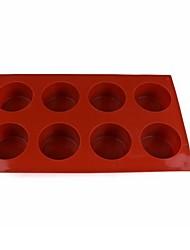Недорогие -8 непрерывных цилиндрических силиконовых формочек для мыла ручной работы