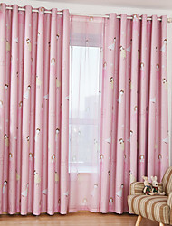 cheap -Blackout Curtains Drapes Two Panels Kids Room Cartoon Polyester Printed