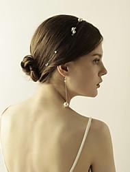 cheap -Women's Head Jewelry Drop Earrings Stylish Sweet Imitation Pearl Earrings Jewelry White For Wedding Party