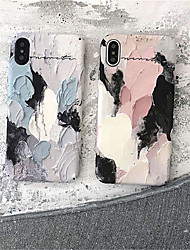 cheap -Case For Apple iPhone X / iPhone 8 Plus / iPhone 8 Pattern Back Cover Scenery / Oil Painting Hard PC