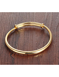 cheap -Women's Bracelet Bangles Classic Creative Ladies Simple Basic Fashion For Mother / Mom 18K Gold Plated Bracelet Jewelry Gold For Daily Date