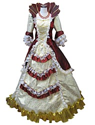 cheap -Princess Rococo Renaissance 18th Century Dress Party Costume Masquerade Ball Gown Women's Costume Black / Red and White / Red+Golden Vintage Cosplay Party Prom Half Sleeve Floor Length Long Length