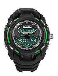 Недорогие -SANDA Муж. Спортивные часы электронные часы Японский Цифровой Черный 30 m Защита от влаги Календарь Хронометр Аналого-цифровые Роскошь Мода - Зеленый Синий Золотистый / Фосфоресцирующий