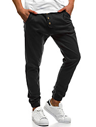 cheap -Men's Running Pants Track Pants Sports Pants Beam Foot Cotton Sports Winter Pants / Trousers Running Fitness Gym Workout Breathable Soft Plus Size Solid Colored Brown Dark Grey Dark Green Black