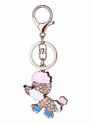 cheap -Keychain Dog Cartoon Sweet Ring Jewelry Fuchsia / Pink / Light Blue For Daily School