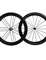 cheap -NEASTY 700CC Wheelsets Cycling 23 mm / 25 mm Road Bike Carbon / Carbon Fibre Clincher 18/21 Spokes 50 mm