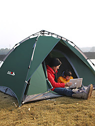 cheap -BSwolf 3 person Automatic Tent Outdoor Windproof Rain Waterproof Breathability Double Layered Automatic Camping Tent 2000-3000 mm for Fishing Beach Camping / Hiking / Caving Oxford Cloth Terylene