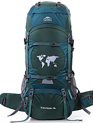 cheap -TOPSKY 80 L Rucksack Waterproof Breathable Wear Resistance High Capacity Outdoor Hiking Climbing Ski Nylon Orange Mineral Green Dark Green