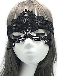 cheap -Lace Masquerade Mask Halloween Mask Eye Mask Inspired by Owl Phantom Of The Opera Black White Halloween Halloween Carnival Adults' Men's Women's