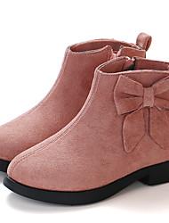 cheap -Girls' Boots Bootie Synthetics Little Kids(4-7ys) / Big Kids(7years +) Black / Burgundy / Pink Fall / Winter