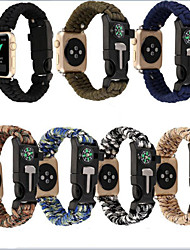 cheap -Watch Band for Apple Watch Series 5/4/3/2/1 Apple Leather Loop / DIY Tools Nylon Wrist Strap