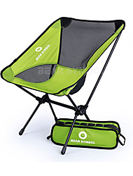 cheap -BEAR SYMBOL Camping Chair Portable Rain Waterproof Anti-Slip Ultra Light (UL) Oxford Cloth 7075 Aluminium Mesh for 1 person Fishing Hiking Camping Autumn / Fall Spring Green Gray / Foldable
