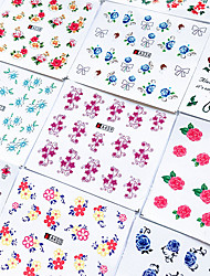 cheap -44 pcs Water Transfer Sticker Flower / Galaxy nail art Manicure Pedicure Best Quality / High quality, formaldehyde free Sweet Lolita / Romantic Party / Evening / Daily / Festival