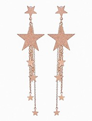 cheap -Women's Drop Earrings Long Star Ladies Stylish Classic Earrings Jewelry Gold / Silver For Daily 1 Pair
