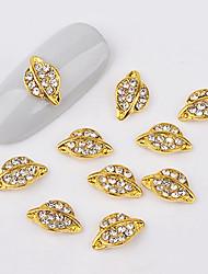 cheap -10 pcs Universal Metalic Nail Jewelry For Finger Nail Creative nail art Manicure Pedicure Daily Stylish