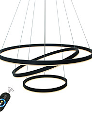 cheap -1-Light 80 cm Creative / Adjustable / Dimmable Chandelier Aluminum Acrylic Circle Painted Finishes LED / Modern 110-120V / 220-240V