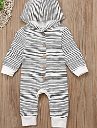 cheap -Baby Boys' Cute Striped Long Sleeve Cotton Overall & Jumpsuit White