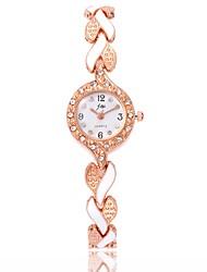 Недорогие -Жен. Часы-браслет Наручные часы Diamond Watch Кварцевый Черный / Белый / Синий Повседневные часы Имитация Алмазный Аналоговый Дамы На каждый день Мода - Светло-синий Лиловый Красный / Один год