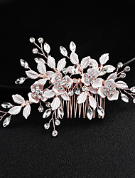 cheap -Beaded / Alloy Hair Combs with Floral 1 Piece Wedding / Special Occasion Headpiece