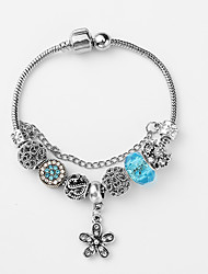 cheap -Women's Charm Bracelet Stylish Beads Flower Ladies Vintage European Fashion Resin Bracelet Jewelry Dark Blue / Pink / Light Blue For Daily / Rhinestone