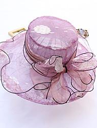 cheap -Organza Headwear with Cap 1pc Wedding / Party / Evening Headpiece