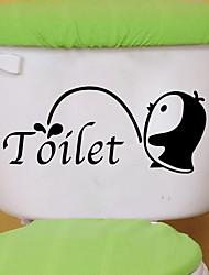 Недорогие -Животные Наклейки Наклейки для животных Наклейки для туалета, Винил Украшение дома Наклейка на стену Унитаз / Холодильник Украшение 1шт / Положение регулируется
