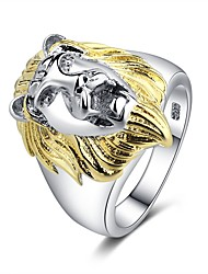 cheap -Couple's Ring 1pc Gold 18K Gold Plated Copper Platinum Plated Ladies Trendy Hyperbole Halloween Street Jewelry Classic Sculpture Lion Animal Cool
