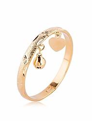 cheap -Women's Bracelet Stylish Heart Basic Casual / Sporty Fashion Copper Bracelet Jewelry Gold For Daily Date