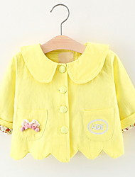 cheap -Kids Girls' Active Daily Patchwork Long Sleeve Cotton Suit & Blazer Blue