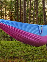 cheap -DesertFox® Camping Hammock Double Hammock Outdoor Ultra Light (UL) Anti-tear Wear Resistance Parachute Nylon for 2 person Hiking Camping Fuchsia Dark Blue Coffee
