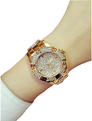 Недорогие -Жен. Эксклюзивные часы Нарядные часы Diamond Watch Кварцевый Нержавеющая сталь Серебристый металл / Золотистый 50 m Творчество Аналоговый Дамы Элегантный стиль - Золотой Серебряный / Один год