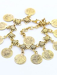 cheap -Leg Chain Ladies Dangling Vintage Women's Body Jewelry For Street Going out Vintage Style Coin Alloy Flower Shape Gold Silver 1pc
